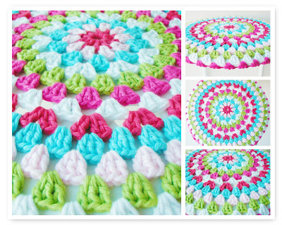 crochet pattern stool seat cover