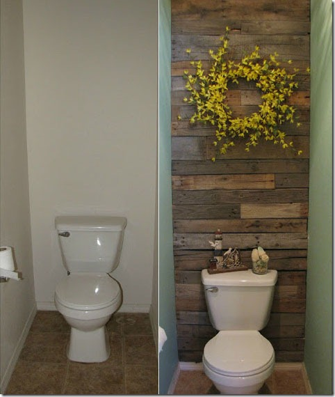 Recycled Pallets DIY Wooden Wall