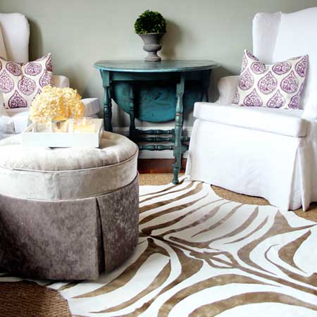 DIY Zebra Rugs
