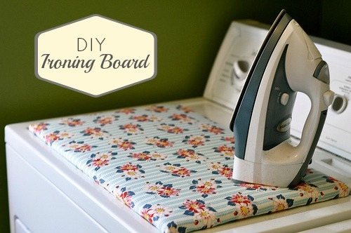 Handy Quilting Ironing Board on Washing Machine Top