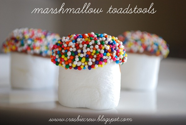 Cool Marshmallow Toadstools.. Kids Can Make