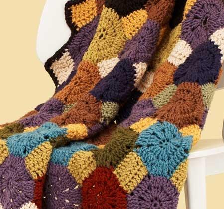 Free Crochet Pattern Octagon Motif : Octagon Jewel Afghan Crochet Pattern