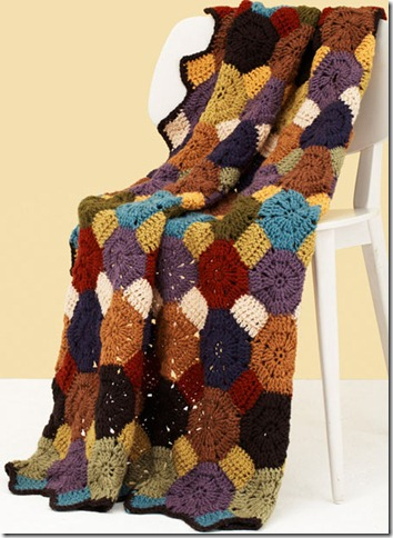 octagon squares afghan free crochet patterns