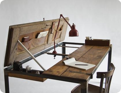 Recycled Furniture :: Street Door = Desk