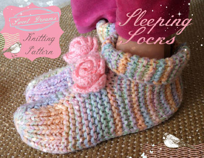 sleeping socks knitting pattern :: finecraftguild.com