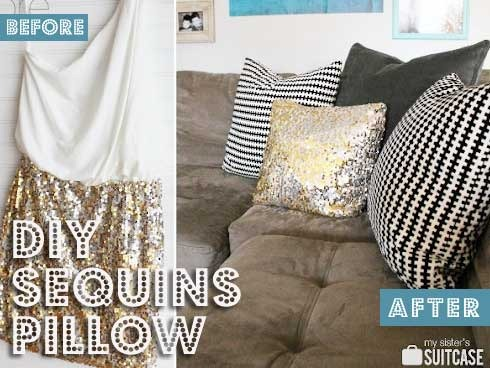 DIY Decorative Pillows with oh-so Pretty Sequins