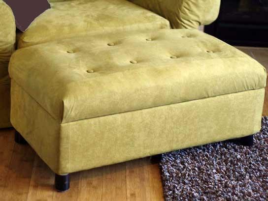 DIY Upholstered Ottomans w Storage