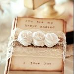 Shabby Chic Burlap Lace Valentine Decorations or Wedding Ideas