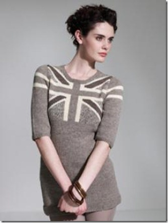 Union Jack :: sweater dress :: free knitting pattern
