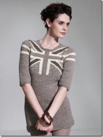 Union Jack :: sweater dress :: free knitting pattern