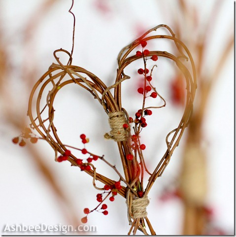 Valentine Idea Twig Heart DIY craft