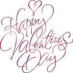 Happy Valentines Day  – Pretty Cursive Letters