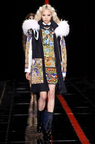 Sweater dress from the Just Cavalli fashion collection for Fall-Winter 2013-2014
