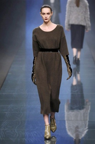 Sweater dress from the Anteprima fashion collection for Fall-Winter 2013-2014