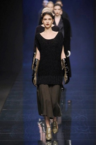 Sweater dress from the Anteprima collection for Fall-Winter 2013-2014