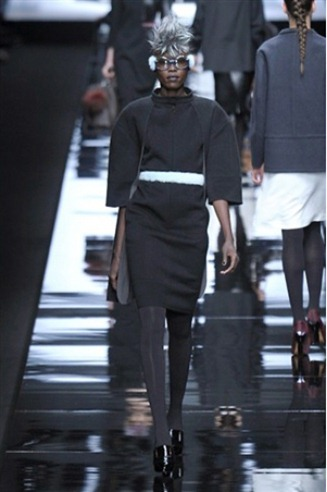 Sweater dress from the Fendi fashion collection for Fall-Winter 2013-2014