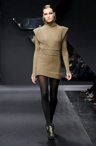 Sweater dress from the Krizia fashion collection for Fall-Winter 2013-2014
