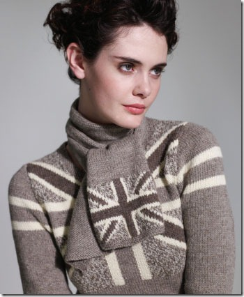 Union Jack Sweater Dress Knitting Pattern :: Stunning!