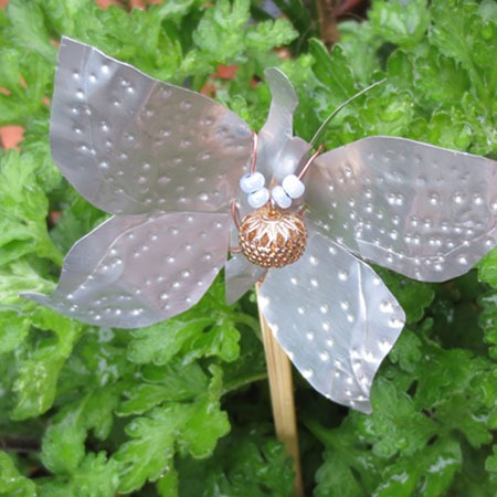 butterfly recycled can crafts