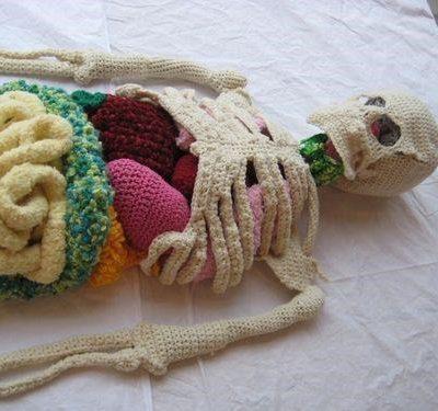Crochet Skeleton ~ Cool Crafts for Kids, Biology University Students & Doctors