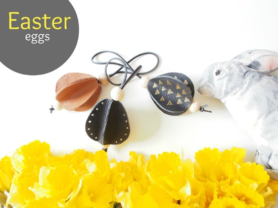 DIY Leather Easter Eggs