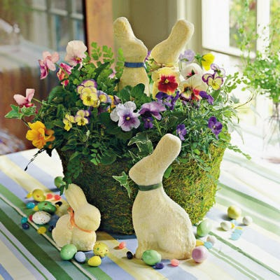 decorating ideas with easter flowers
