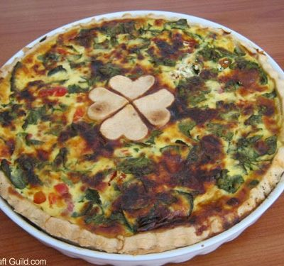 St Patrick s Day Recipes :: Spinach Shamrock Quiche