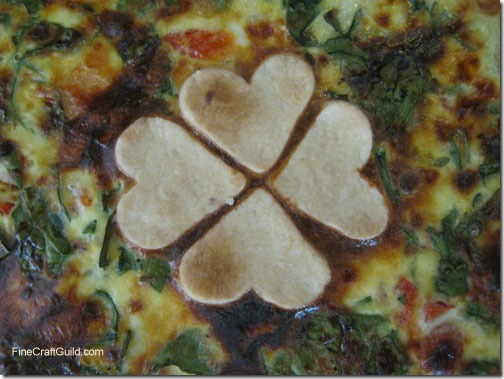 St patrick s day recipes spinach shamrock quiche for Decoration quiche