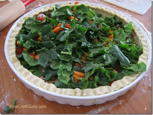 St Patrick's Day ::  Spinach Quiche