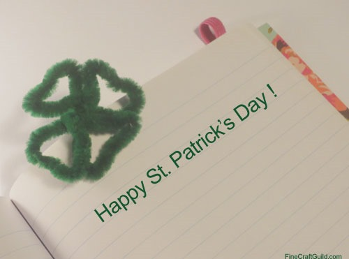 st patrick s day card shamrock