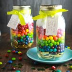 st patricks day rainbow gold coin treats in mason jars :: finecraftguild.com
