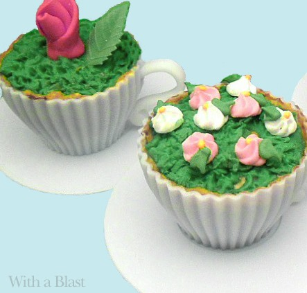 Chococate Flower Cupcakes recipe