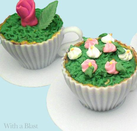 Choc Chip Flower Cups