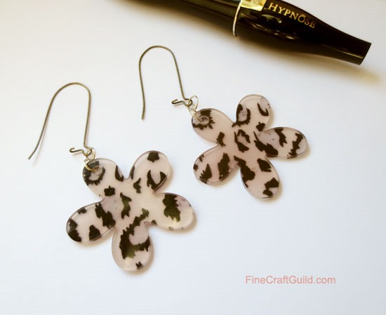 DIY animal print earrings, camouflage mod flowers :: FineCraftGuild.com