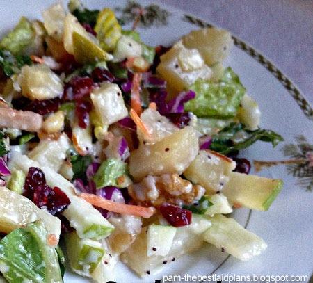 healthy recipes: cranberry nuts salad