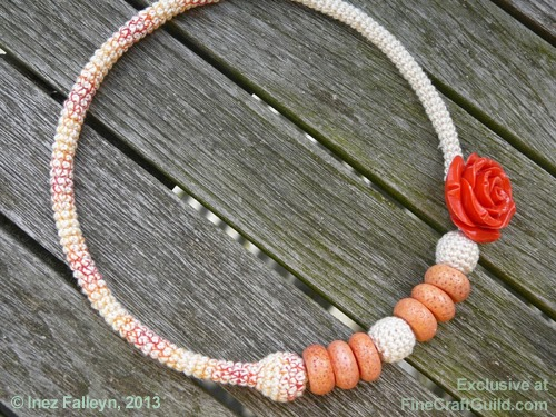 mothers day gifts necklaces | free crochet rose necklace pattern