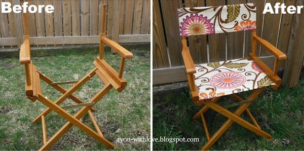 DIY outdoor furniture chairs makeover