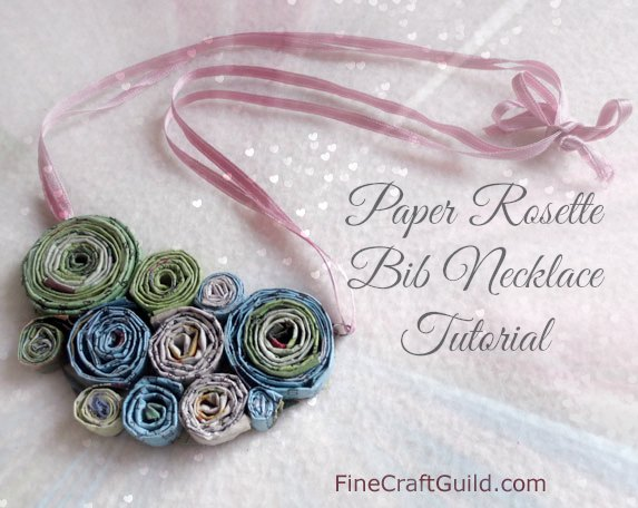paper rosette necklace tutorial :: FineCraftGuild.com