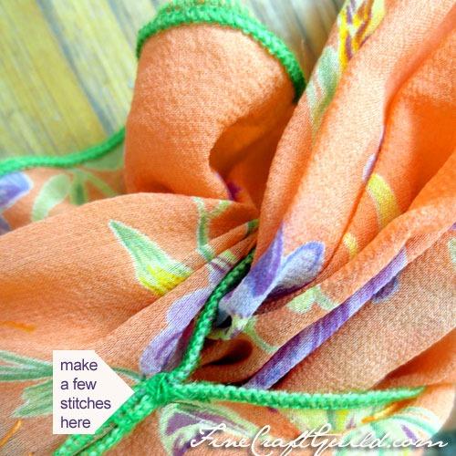silk flower infinity scarf