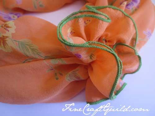 spring infinity scarf pattern flowers