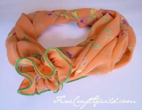 spring infinity scarf pattern