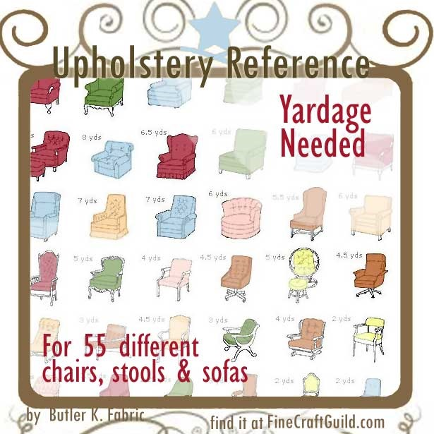 Upholstery Reference Charts
