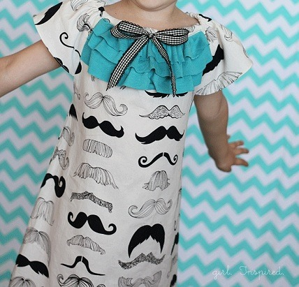 Cutest Girls Summer Dresses … w Mustaches!!