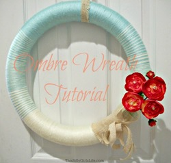 diy ombre wreath
