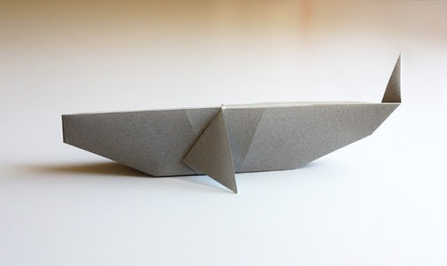 origami animals, origami whale, photo by HowAboutOrange
