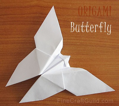 Origami animals, origami butterfly, photo by FineCraftGuild.com