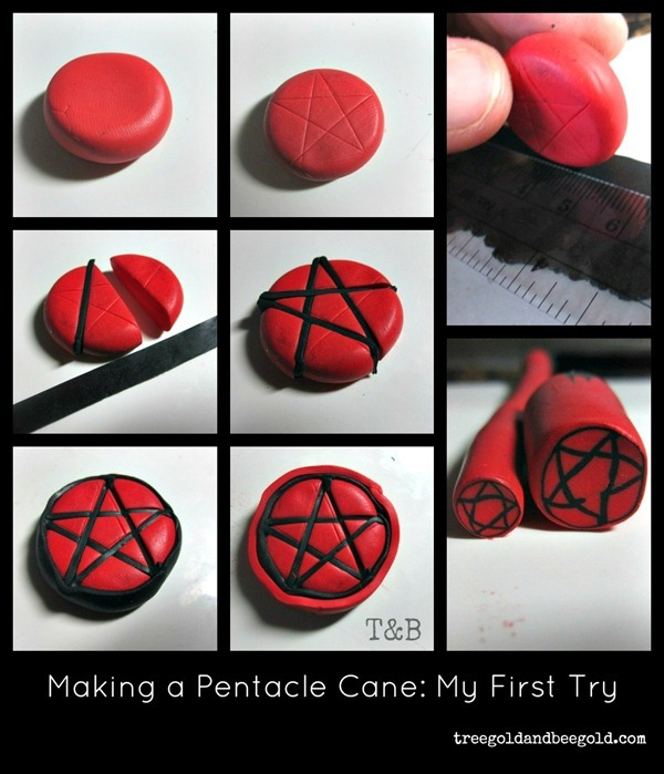 polymer clay cane tutorial pentacle