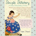 Free Embroidery Stitching Book