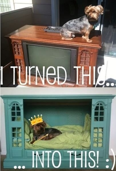 tv-recycled-furniture-pet-beds