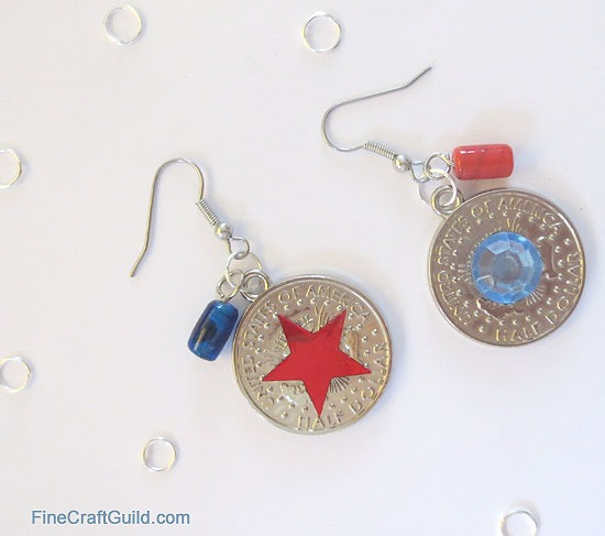 DIY 4th of July Earrings